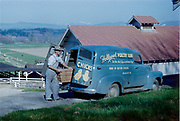 CS03594 Hollywood Poultry Farm, Woodinville, Wash. delivery van. 1954 Photo by Don McQuade, Seattle.