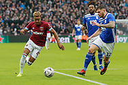 West Ham United midfielder Grady Diangana (45) attacks down the right wing during the The FA Cup 3rd round match between West Ham United and Birmingham City at the London Stadium, London, England on 5 January 2019.