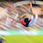BRUSSELS, BELGIUM:  September 3:   KC Lightfoot of the United States in action during the pole vault competition at the Wanda Diamond League 2021 Memorial Van Damme Athletics competition at King Baudouin Stadium on September 3, 2021 in  Brussels, Belgium. (Photo by Tim Clayton/Corbis via Getty Images)