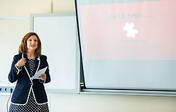 Gordana Radenovic, Podjetniski zajtrk skupine BNI Mostovi, on May 22nd, 2019 in Ljubljana, Slovenia. Photo by Vid Ponikvar / Sportida
