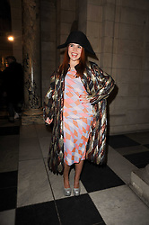 PALOMA FAITH at the London College of Fashion Show held at the Victoria & Albert Museum, Cromwell Road, London on 28th January 2010.