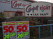 Carpet Right shop 50% sale, Ipswich, Suffolk, England