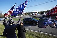 Trump supporters gather outside Kamala Harris Rally in Bethlehem Twp., PA