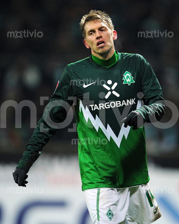 FUSSBALL   1. BUNDESLIGA   SAISON 2010/2010   17. SPIELTAG SV Werder Bremen - 1. F  Kaiserslautern                18.12.2010 Aaron HUNT (SV Werder Bremen) ist enttaeuscht