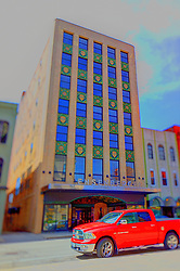 08 May 2006:   Buildings and structures in Bloomington Il.  This one is the Ensenberger Furniture store building. Now luxury apartments on the floors above the main level.  <br /> <br /> This image was produced in part utilizing High Dynamic Range (HDR) processes.  It should not be used editorially without being listed as an illustration or with a disclaimer.  It may or may not be an accurate representation of the scene as originally photographed and the finished image is the creation of the photographer.