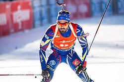Simon Fourcade (FRA) during Men 12,5 km Pursuit at day 3 of IBU Biathlon World Cup 2015/16 Pokljuka, on December 19, 2015 in Rudno polje, Pokljuka, Slovenia. Photo by Vid Ponikvar / Sportida