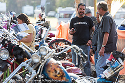 Ken Conte of Rise Above at the Harley-Davidson Editors Choice bike show at the Broken Spoke Saloon. Daytona Bike Week 75th Anniversary event. FL, USA. Wednesday March 9, 2016.  Photography ©2016 Michael Lichter.
