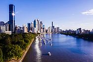 Aerial view of Brisbane city, Queensland, Australia