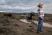 Navajo community leader Daniel Tso stands for a portrait outside Counselor New Mexico in the San Juan Basin.