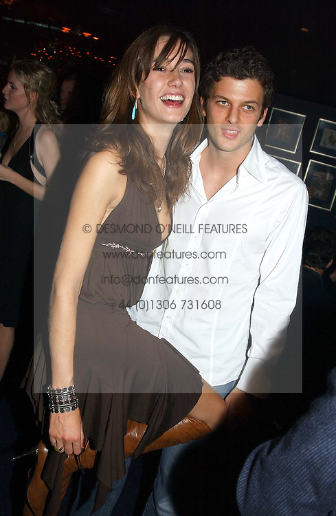 SOPHIA ROGGE and SASHA PESKO at a party hosted by Tatler magazine to celebrate the publication of the 2004 Little Black Book held at Tramp, 38 Jermyn Street, London SW1 on 10th November 2004.<br /><br />NON EXCLUSIVE - WORLD RIGHTS