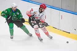 during Ice Hockey match between, HK SŽ Olimpija vs HDD SIJ Acroni Jesenice in Round 1 of AHL on 3 October 2020 in Hala Tivoli, Ljubljana, Slovenia. Photo by Grega Valancic / Sportida