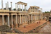 Teatro Romano, Roman Amphitheatre, Merida, Extremadura, Spain