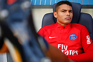 Paris Saint Germain's Brazilian defender Thiago Silva looks on during the French Championship Ligue 1 football match between Paris Saint-Germain and Girondins de Bordeaux on September 30, 2017 at the Parc des Princes stadium in Paris, France - Photo Benjamin Cremel / ProSportsImages / DPPI