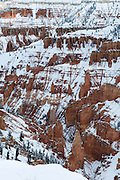 Snow covers the rock formations in Cedar Breaks National Monument in Utah. Missoula Photographer
