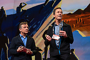Host Chris Anderson and Mark Tercek speak at TED2019: Bigger Than Us. April 15 - 19, 2019, Vancouver, BC, Canada. Photo: Bret Hartman / TED