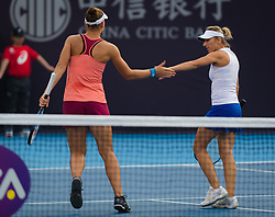 October 5, 2018 - Kveta Peschke of the Czech Republic & Nicole Melichar of the United States playing doubles at the 2018 China Open WTA Premier Mandatory tennis tournament (Credit Image: © AFP7 via ZUMA Wire)