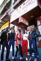 May 1, 1979 - Hollywood, California, U.S. - The Babys outside the punk venue & restaurant Madame Wong's in Chinatown in Los Angeles, CA. May, 1979 ** NO ITALY  (Credit Image: © Armando Gallo via ZUMA Studio)