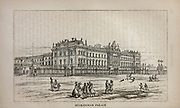 Buckingham Palace From the book ' London and its environs : a practical guide to the metropolis and its vicinity, illustrated by maps, plans and views ' by Adam and Charles Black Published in Edinburgh by A. & C. Black 1862