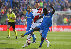 February 23, 2019 - Getafe, Madrid, Spain - of Rayo Vallecano in action during La Liga Spanish championship, football match between Getafe and Rayo Vallecano, February 23th, in Coliseum Alfonso Perez in Getafe, Madrid, Spain. (Credit Image: © AFP7 via ZUMA Wire)