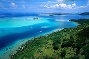 Aerial image of Bora Bora, French Polynesia, Tahiti by Randy Wells