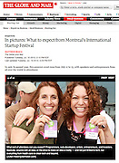 Montreal International Startup Festival - Photo slideshow in The Globe and Mail (July 2012)