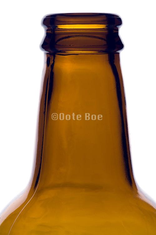 bottleneck of a beer bottle