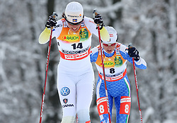 Charlotte Kalla of Sweden at Ladies` Pursuit 7,5 km Classic + 7,5 km Free at FIS Nordic World Ski Championships Liberec 2008, on February 21, 2009, in Vestec, Liberec, Czech Republic. (Photo by Vid Ponikvar / Sportida)