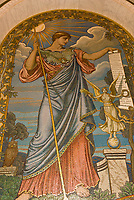 Mosaic of Minerva of Peace, The Great Hall, The Library of Congress (Thomas Jefferson Building), Washington D.C., U.S.A.