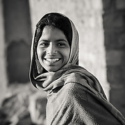 Portrait of girl in village of Chandelao, Rajasthan