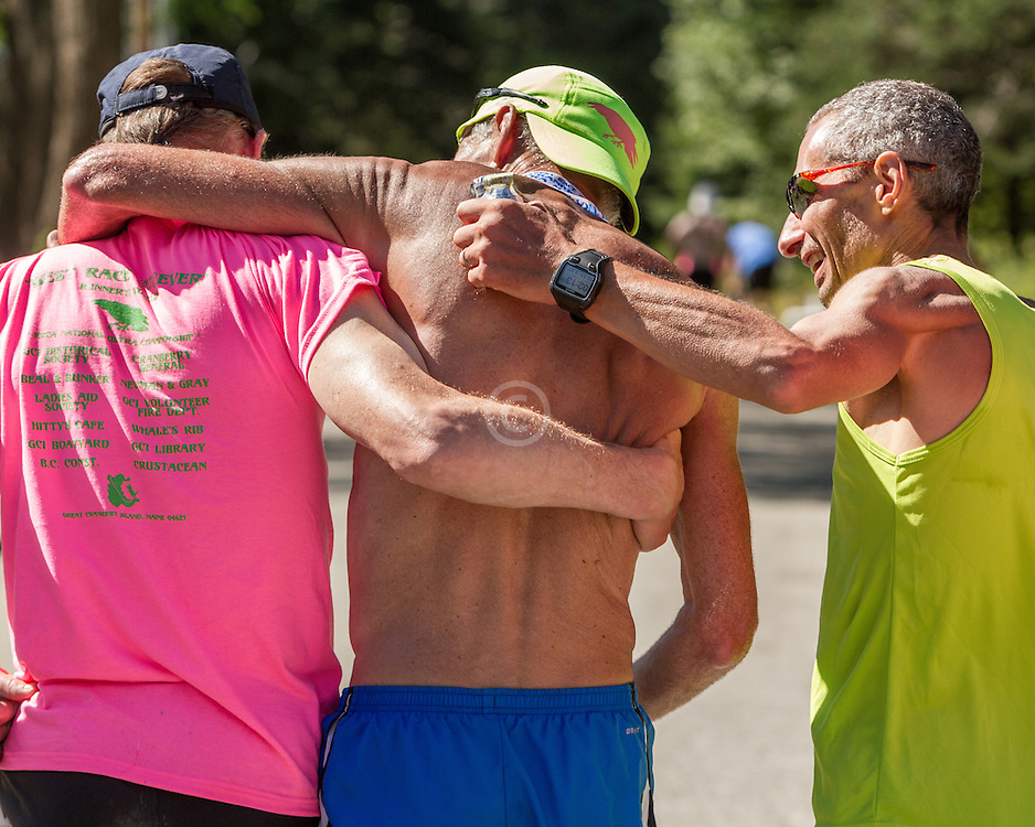 Great Cranberry Island Ultra 50K road race: Gary Allen gets helping hand after finishing