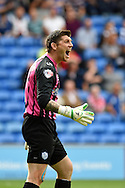 Keiren Westwood, the Sheffield Wednesday goalkeeper looks on. Skybet football league championship match, Cardiff city v Sheffield Wed at the Cardiff city stadium in Cardiff, South Wales on Saturday 27th Sept 2014<br /> pic by Andrew Orchard, Andrew Orchard sports photography.