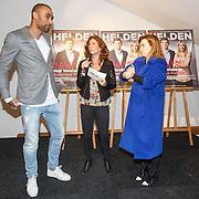 NLD/Amsterdam/20160202 - Lancering Helden magazine, Orlando Engelaar, Barbara Barend en Victoria Koblenko