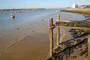 Jetty low tide River Crouch, Burnham on Crouch, Essex, England