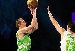 Jaka Daneu vs Saso Ozbolt during FIBA Europe Eurobasket 2013 draw ceremony on November 18, 2012 in Postojna cave, Postojna, Slovenia. (Photo By Vid Ponikvar / Sportida)