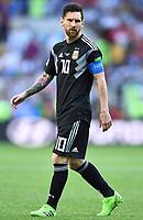 Lionel Messi (Argentinien)<br /> Moskau, 16.06.2018, FIFA Fussball WM 2018 in Russland, Vorrunde, Argentinien - Island 1:1<br /> Argentina - Iceland