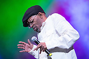 Reggae singer Beres Hammond performing at The Biolife Sounds of Reggae at the Barclays Center.