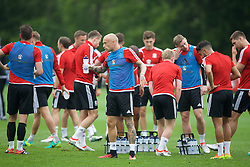 CARDIFF, WALES - Saturday, June 4, 2016: Wales' David Cotterill during a training session at the Vale Resort Hotel ahead of the International Friendly match against Sweden. (Pic by David Rawcliffe/Propaganda)
