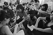 Vietnam, Saigon: manicure and pedicure in the market.