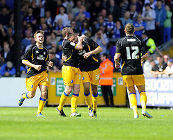 Mansfield Town's Colin Daniel celebrates - Photo mandatory by-line: Joe Meredith/JMP - Mobile: 07966 386802 03/05/2014 - SPORT - FOOTBALL - Bristol - Memorial Stadium - Bristol Rovers v Mansfield - Sky Bet League Two