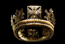 The Diamond Diadem dating back to 1820, was originally worn by Queen Adelaide, is one of the Royal treasures on display as part of a Golden Jubilee celebration, at the Queens Gallery, Buckingham Palace, London.