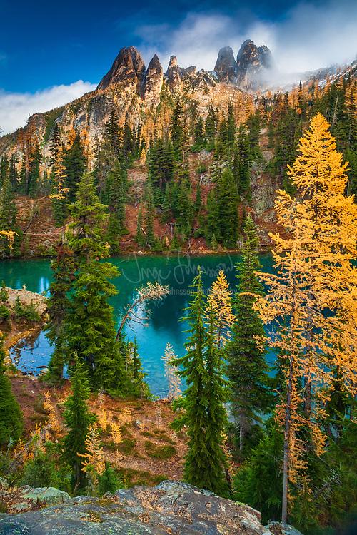 Mountain Larches at Blue Lake