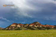 Colorful buttes in Powder River County, Montana, USA