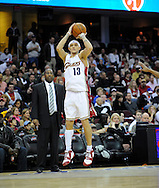 Delonte West in action in his first game as a Cleveland Cavalier during a game against the Memphis Grizzlies.
