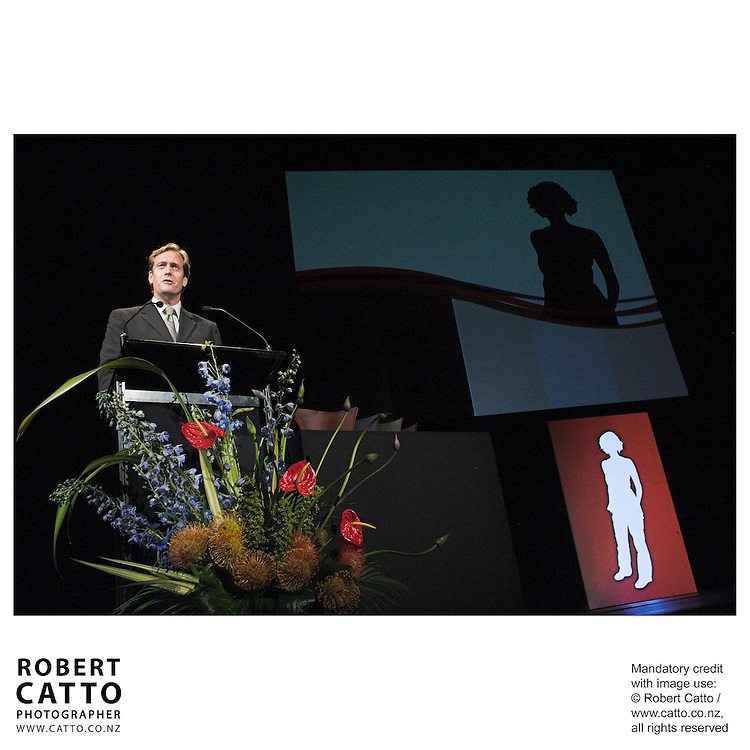 Brian Butler at the Arts Foundation of New Zealand New Generation Awards at the St James Theatre, Wellington, New Zealand.<br />