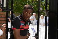 Wilfried Zaha of Crystal Palace arrives at Selhurst Park before k/o. Barclays Premier league match, Crystal Palace v Aston Villa at Selhurst Park in London on Saturday 22nd August 2015.<br /> pic by John Patrick Fletcher, Andrew Orchard sports photography.