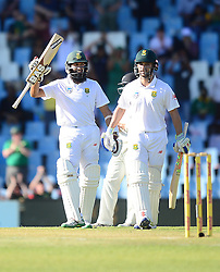H. Amla during day one of the second test match between South Africa and New Zealand held at SuperSport Park, Centurion in Gauteng, South Africa on the 27th August 2016<br /> <br /> Photo by:   Denver de Wee / Real Time Images
