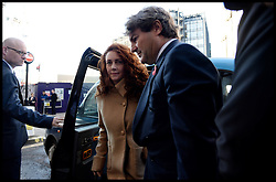 Rebekah and Charlie Brooks arrives at the Old Bailey for the start of the Phone Hacking Trial. The Old Bailey, London, United Kingdom. Monday, 28th October 2013. Picture by Andrew Parsons / i-Images