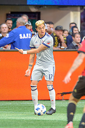 October 21, 2018 - Atlanta, GA, U.S. - ATLANTA, GA - OCTOBER 21: Chicago Fire forward Diego Campos (17) during the MLS game between the Atlanta United and the Chicago Fire on October 21, 2018 at the Mercedes-Benz Stadium in Atlanta, GA.  Atlanta United FC secured a place in next year's CONCACAF Champions League with a 2-1 victory against the visiting Chicago Fire. (Photo by John Adams/Icon Sportswire) (Credit Image: © John Adams/Icon SMI via ZUMA Press)