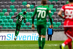 Bagnack Mouegni Macky of NK Olimpija Ljubljana and Putincanin Marko of NK Olimpija Ljubljana during football match between NK Olimpija Ljubljana and NK Aluminij in Round #27 of Prva liga Telekom Slovenije 2018/19, on April 14th, 2019 in Stadium Stozice, Slovenia Photo by Matic Ritonja / Sportida