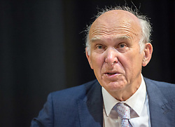 © Licensed to London News Pictures. 15/05/2019. Bristol, UK. VINCE CABLE, Leader of the Liberal Democrats, visits the Engine Shed business centre in Bristol during the European Parliamentary elections campaign. Photo credit: Simon Chapman/LNP